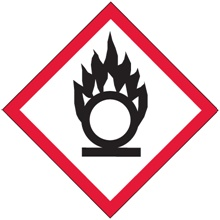 "2 x 2"" Pictogram - Flame Over Circle Labels"